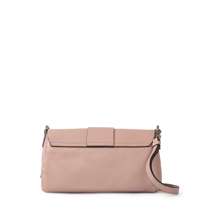 Pink Grained Leather Shoulder Bag Saint-Tropez YG 5152618 PNA | TJ COLLECTION | Side Image - 2