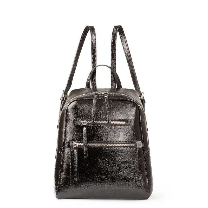 Black Patent Cracked Leather Soho Backpack YG 5320818 BLP