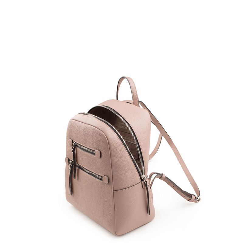 Grained Leather Soho Backpack YG 5320818 PNZ | TJ COLLECTION | Side Image - 3