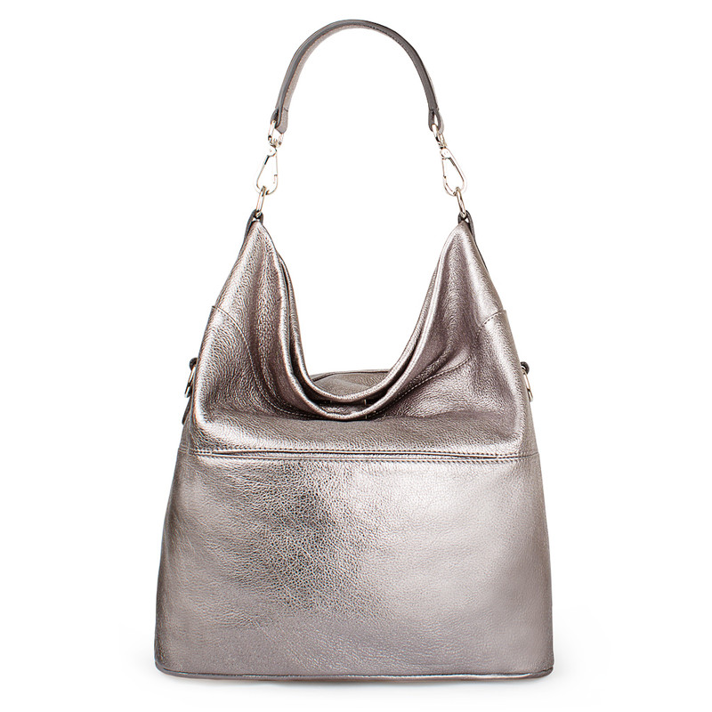 Metallic Leather Bologna Boho Bag YG 5355818 PLZ
