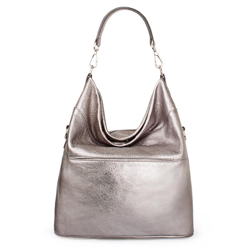 Metallic Leather Bologna Boho Bag YG 5355818 PLZ