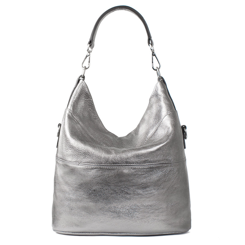 Metallic Leather Bologna Boho Bag YG 5355818 PLZ | TJ COLLECTION | Side Image - 2