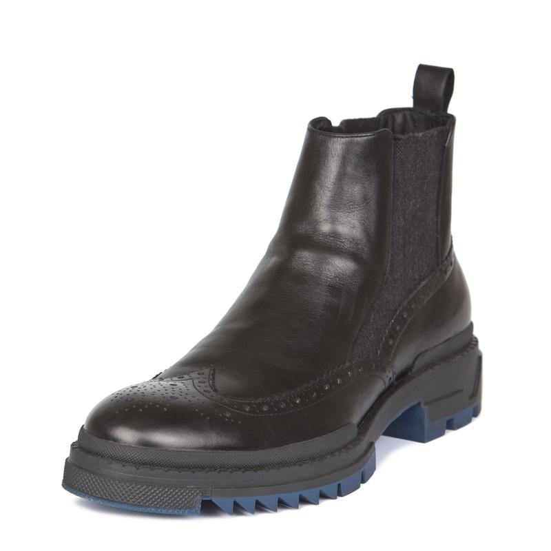 Men's Rubber Sole Chelsea Boots GB 7322018 BLK | TJ COLLECTION | Side Image - 1