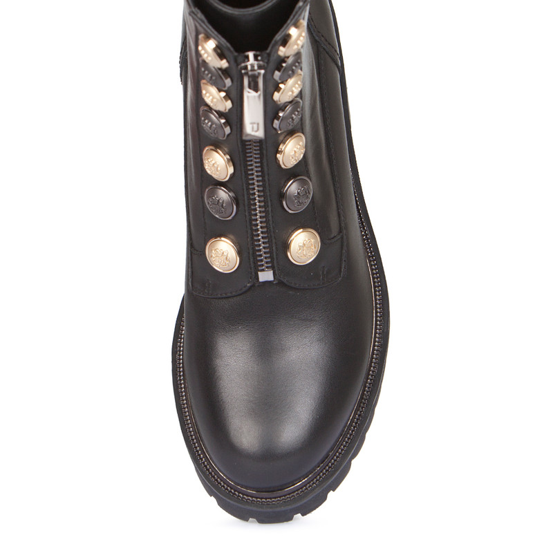 Women's Combat Stretch Leather Boots  GS 5329038 BLZ