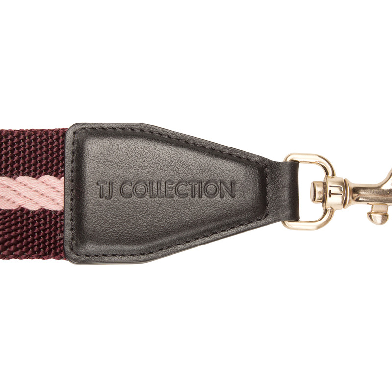 Burgundy and Pink Tracolla Bag Strap LC 5040138 BDM | TJ COLLECTION | Side Image - 2