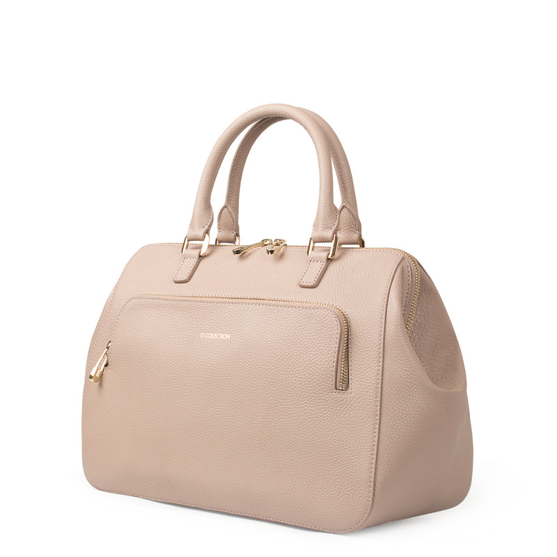 Nude Grained Leather Doctor Bag XT 5449018 TPI   TJ COLLECTION   Side Image - 2