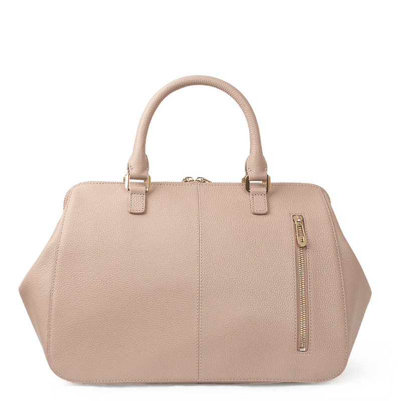 Nude Grained Leather Doctor Bag XT 5449018 TPI | TJ COLLECTION | Side Image - 3
