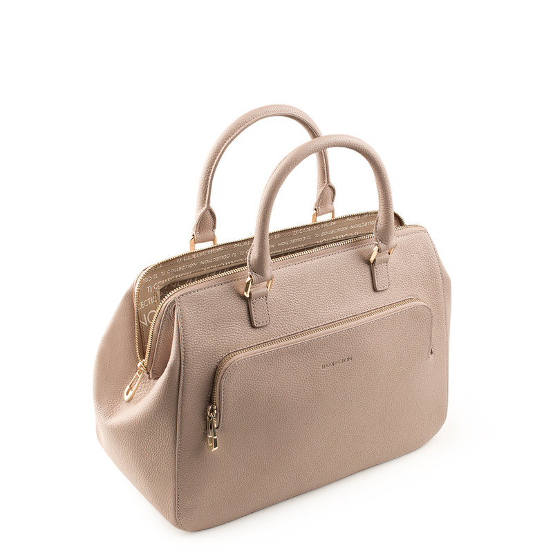 Nude Grained Leather Doctor Bag XT 5449018 TPI | TJ COLLECTION | Side Image - 4