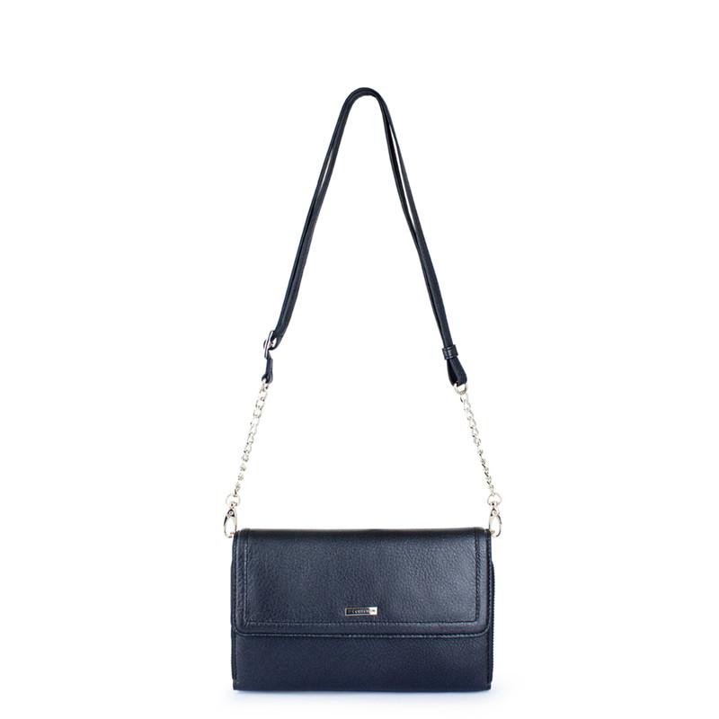 Graphite Leather Mini Bag Vienna YA 5120918 NVZ