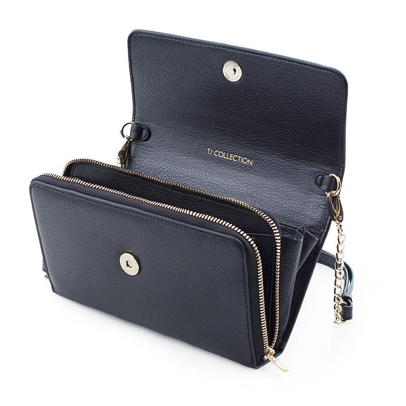 Graphite Leather Mini Bag Vienna YA 5120918 NVZ | TJ COLLECTION | Side Image - 3