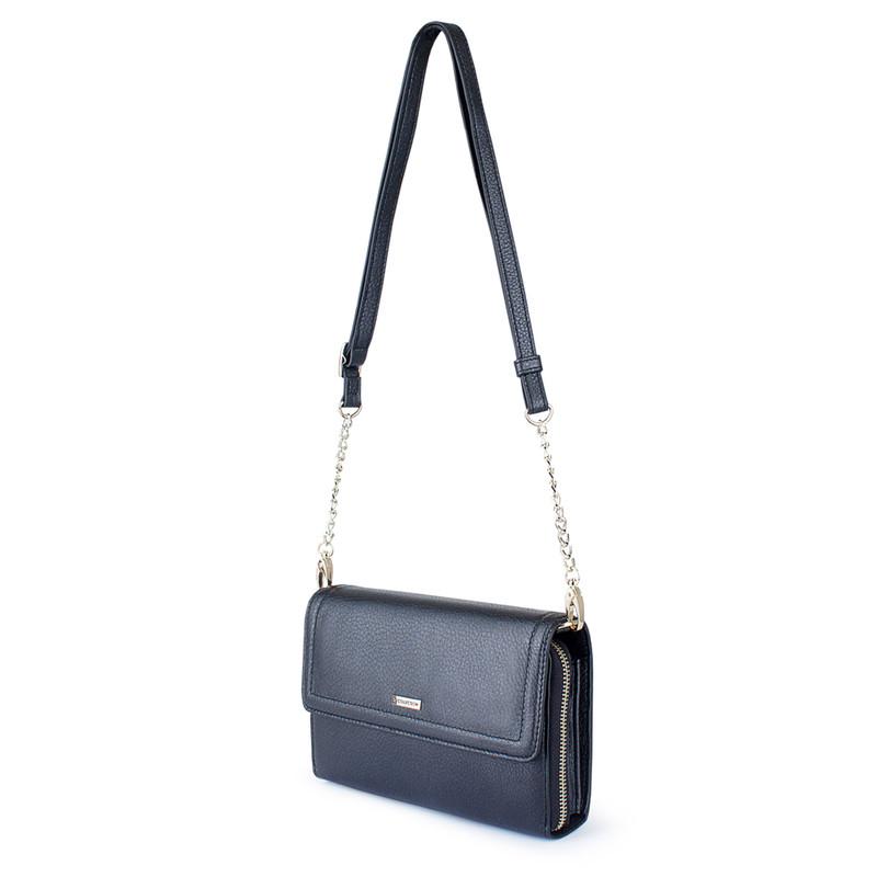 Graphite Leather Mini Bag Vienna YA 5120918 NVZ | TJ COLLECTION | Side Image - 1