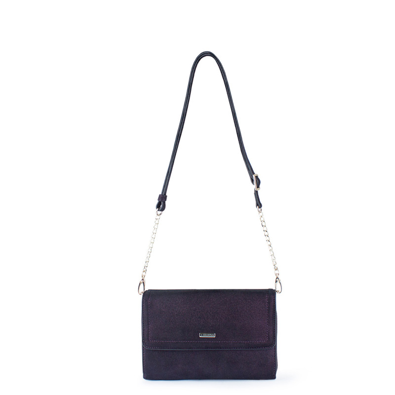 Embossed Shimmering Suede Mini Bag Vienna YA 5120918 VLZ