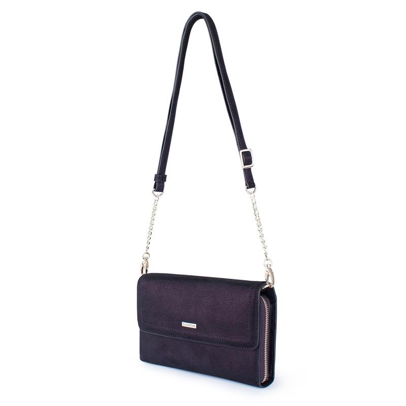 Embossed Shimmering Suede Mini Bag Vienna YA 5120918 VLZ | TJ COLLECTION | Side Image - 1