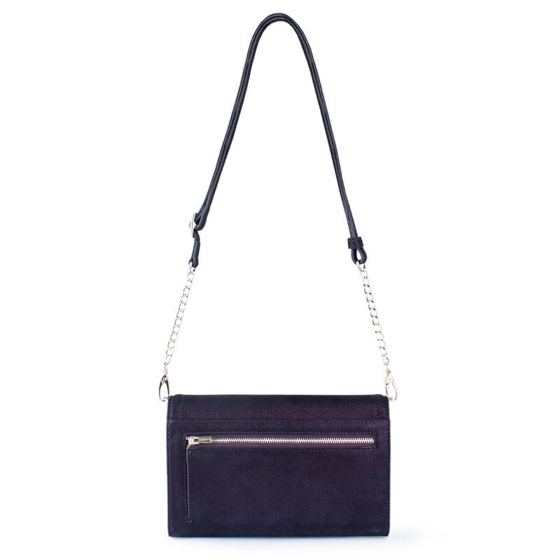 Embossed Shimmering Suede Mini Bag Vienna YA 5120918 VLZ | TJ COLLECTION | Side Image - 2