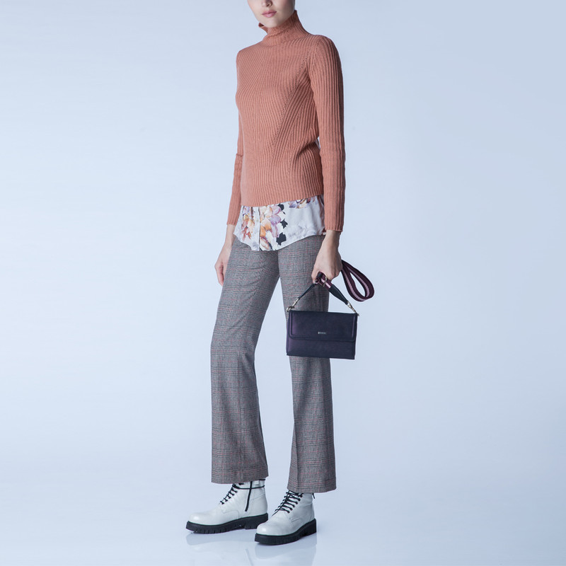 Embossed Shimmering Suede Mini Bag Vienna YA 5120918 VLZ | TJ COLLECTION | Side Image - 4