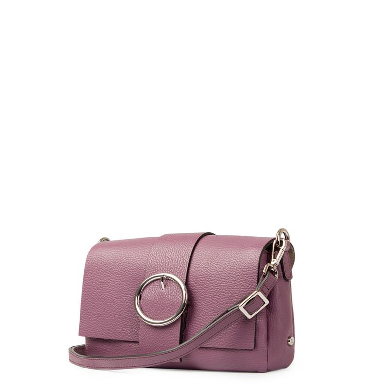 Lavender Grained Leather Shoulder Bag Saint-Tropez YG 5152618 VLT | TJ COLLECTION | Side Image - 1