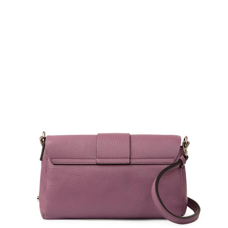 Lavender Grained Leather Shoulder Bag Saint-Tropez YG 5152618 VLT | TJ COLLECTION | Side Image - 2