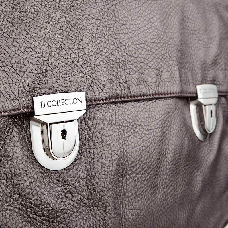 Distressed Leather Bag YH 7470913 DBI | TJ COLLECTION | Side Image - 3