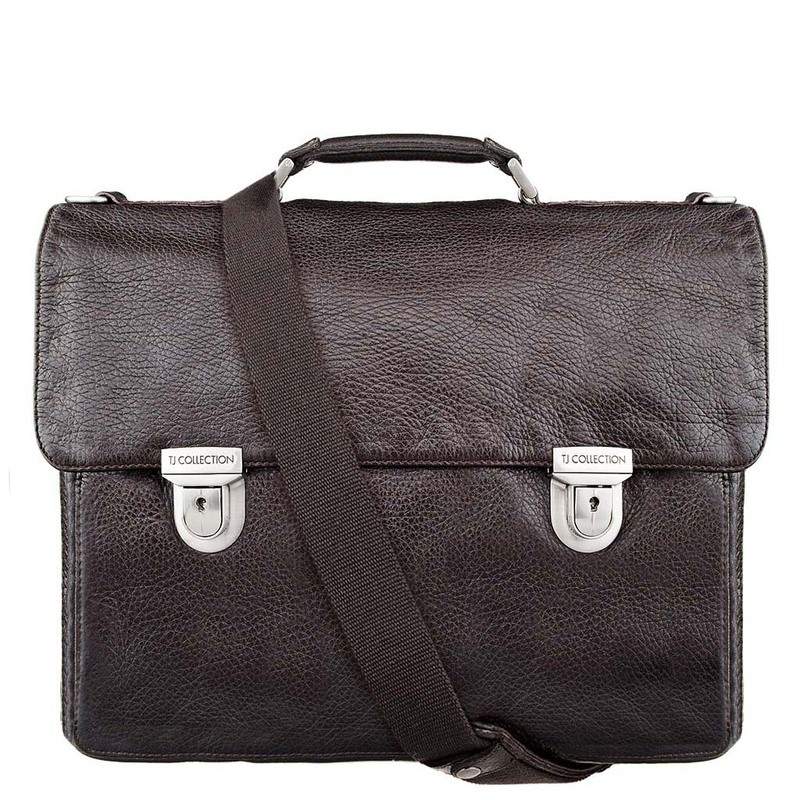 Distressed Leather Bag YH 7470913 DBI | TJ COLLECTION | Side Image - 4