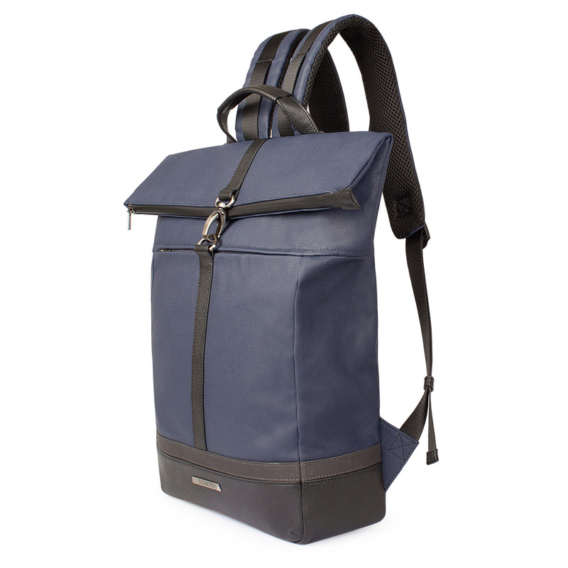 Edinburgh City Roll-Top Backpack YH 8473038 BLU | TJ COLLECTION | Side Image - 1