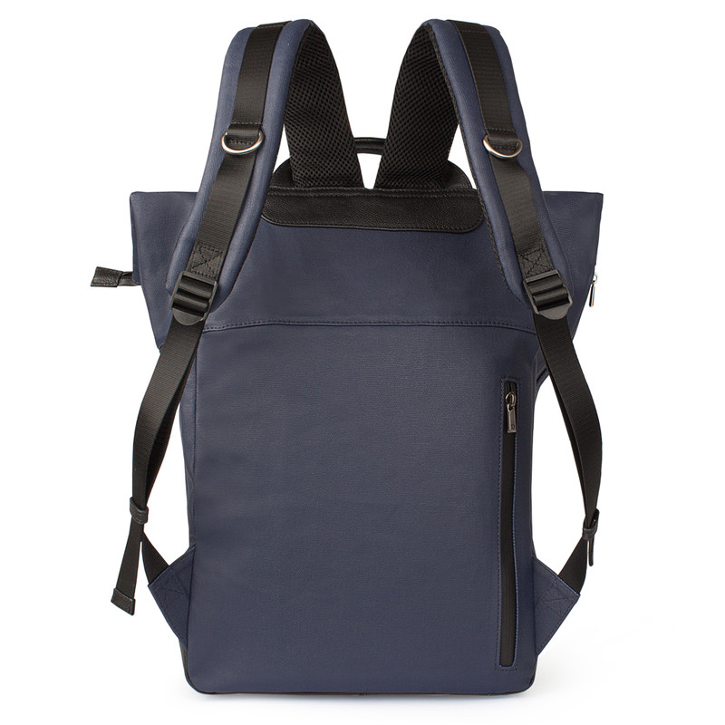 Edinburgh City Roll-Top Backpack YH 8473038 BLU | TJ COLLECTION | Side Image - 2