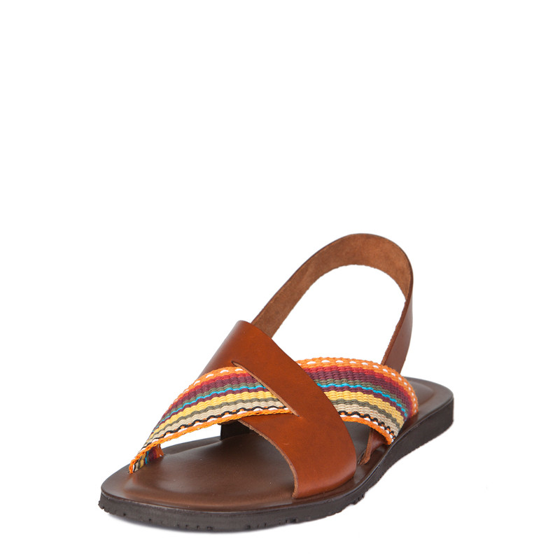 Men's Burnished Leather Sandals GA 7155239 CGM   TJ COLLECTION   Side Image - 1