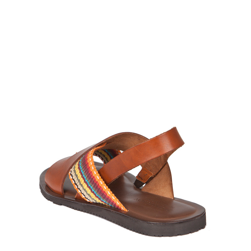 Men's Burnished Leather Sandals GA 7155239 CGM