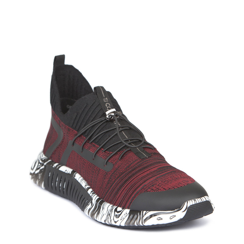 Men's High-Tech Burgundy Trainers Freedom GK 7204129 BDB | TJ COLLECTION | Side Image - 1