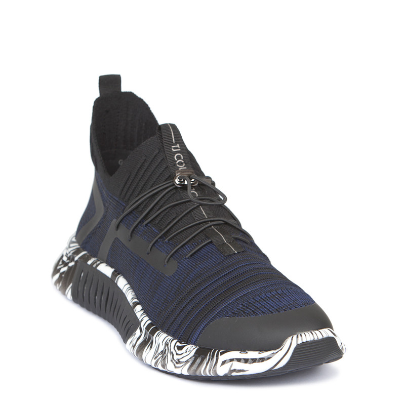 Men's 3D Knit Navy Trainers Freedom GK 7204129 BLU | TJ COLLECTION | Side Image - 1