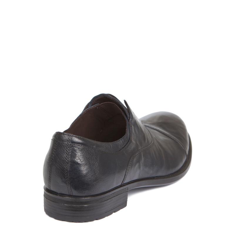 Men's Washed Navy Leather Slip-On Oxfords MP 7294919 NVA