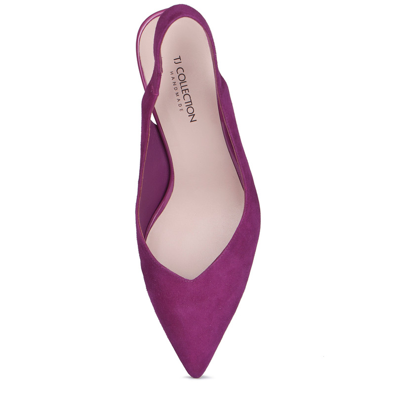 Women's Fuchsia Suede Slingback Courts GF 5167719 VLS