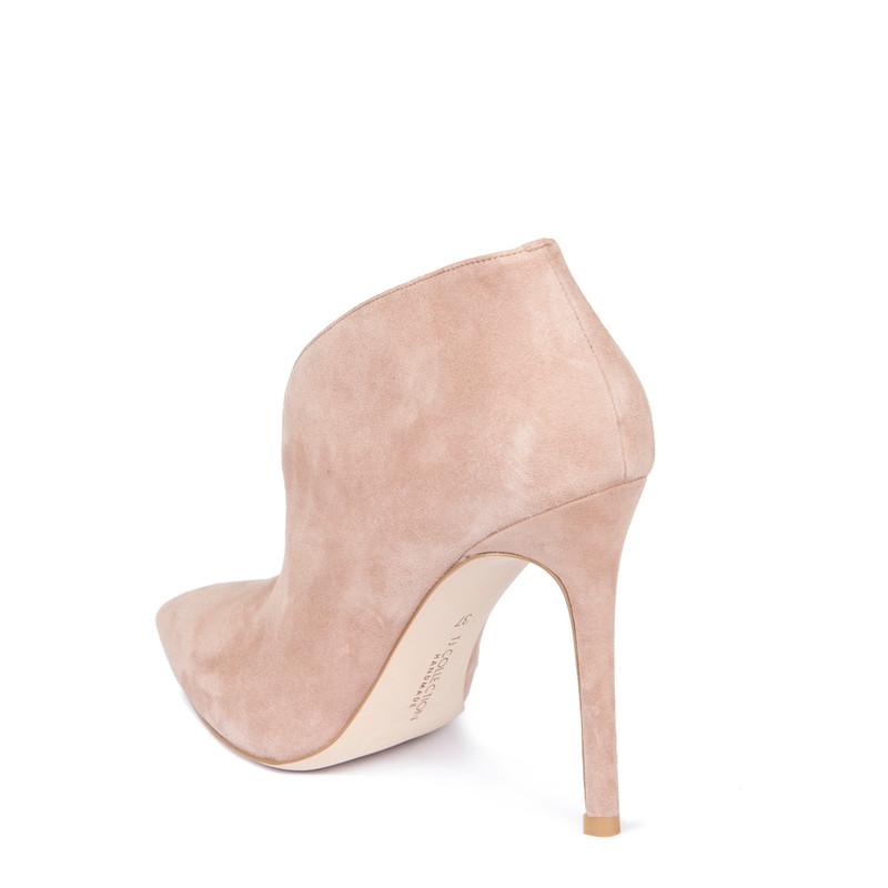 Women's Powder Rose Suede Stiletto Ankle Boots GJ 5299119 TPS