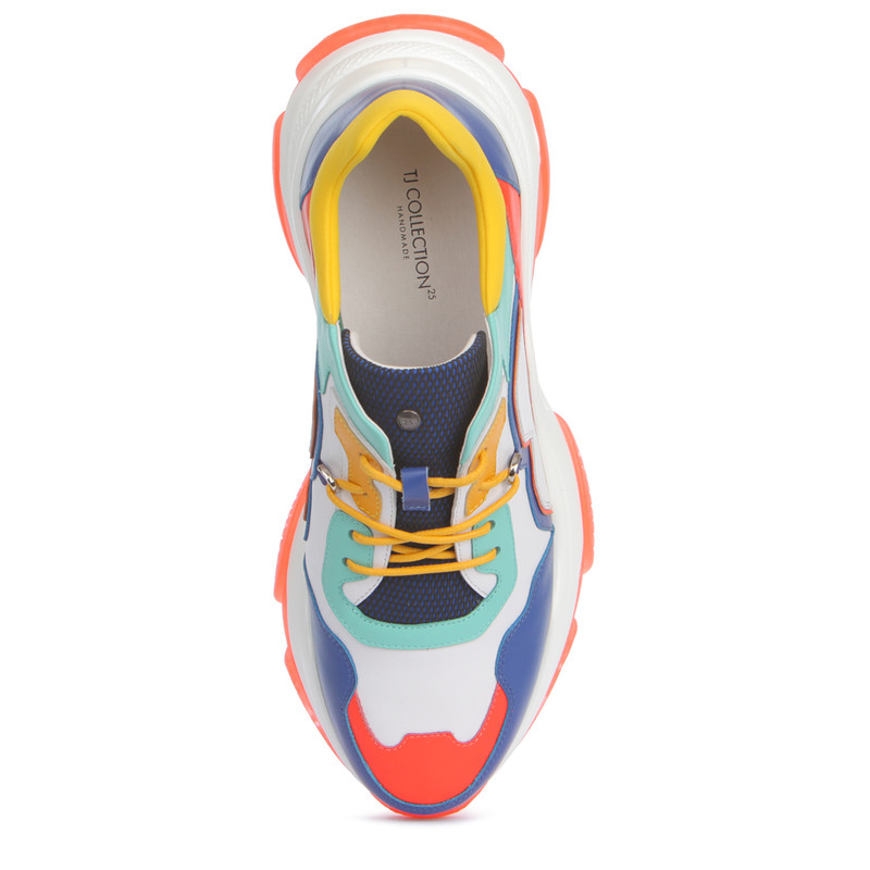 Women's Chunky Sole Vibrant Leather Trainers GS 5224019 BUM | TJ COLLECTION | Side Image - 3