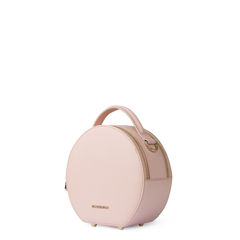 Sorbet Pink Leather Cross-Body Mini Bag Positano XN 5160019 PNA | TJ COLLECTION | Side Image - 1