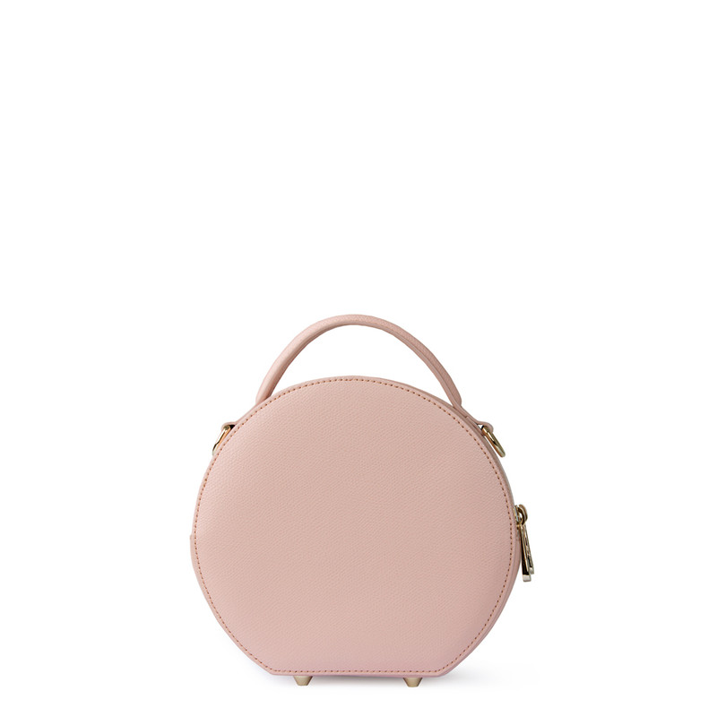 Sorbet Pink Leather Cross-Body Mini Bag Positano XN 5160019 PNA | TJ COLLECTION | Side Image - 2