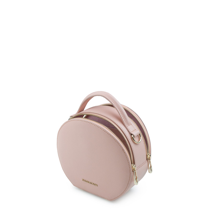 Sorbet Pink Leather Cross-Body Mini Bag Positano XN 5160019 PNA | TJ COLLECTION | Side Image - 3