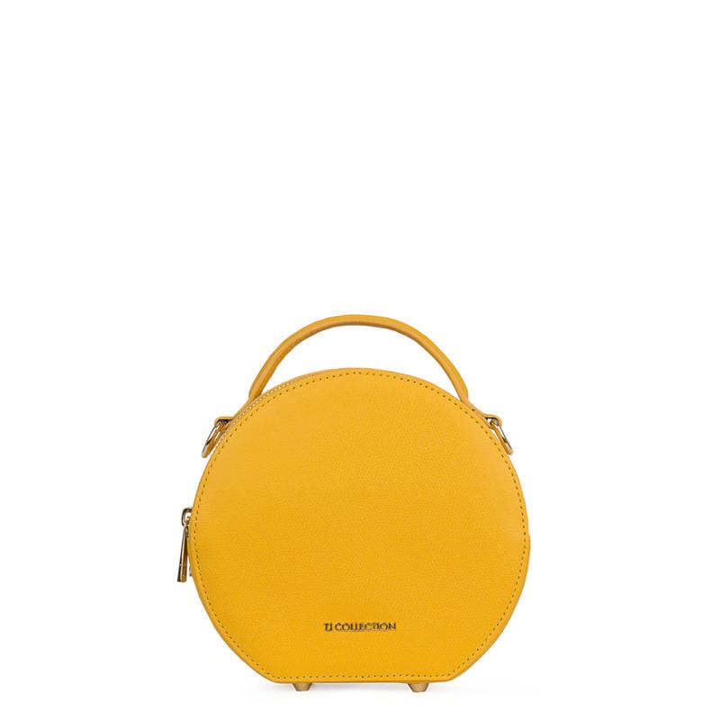 Citrus Yellow Leather Cross-Body Mini Bag Positano XN 5160019 YLW