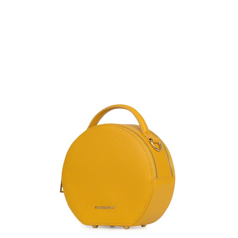 Citrus Yellow Leather Cross-Body Mini Bag Positano XN 5160019 YLW | TJ COLLECTION | Side Image - 1