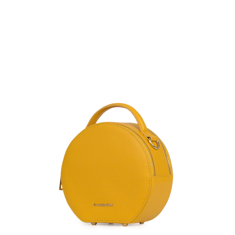 Citrus Yellow Leather Cross-Body Mini Bag Positano XN 5160019 YLW | TJ COLLECTION | Side Image - 1