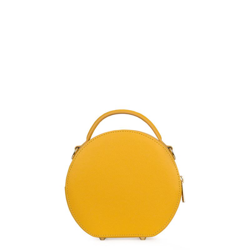 Citrus Yellow Leather Cross-Body Mini Bag Positano XN 5160019 YLW | TJ COLLECTION | Side Image - 2