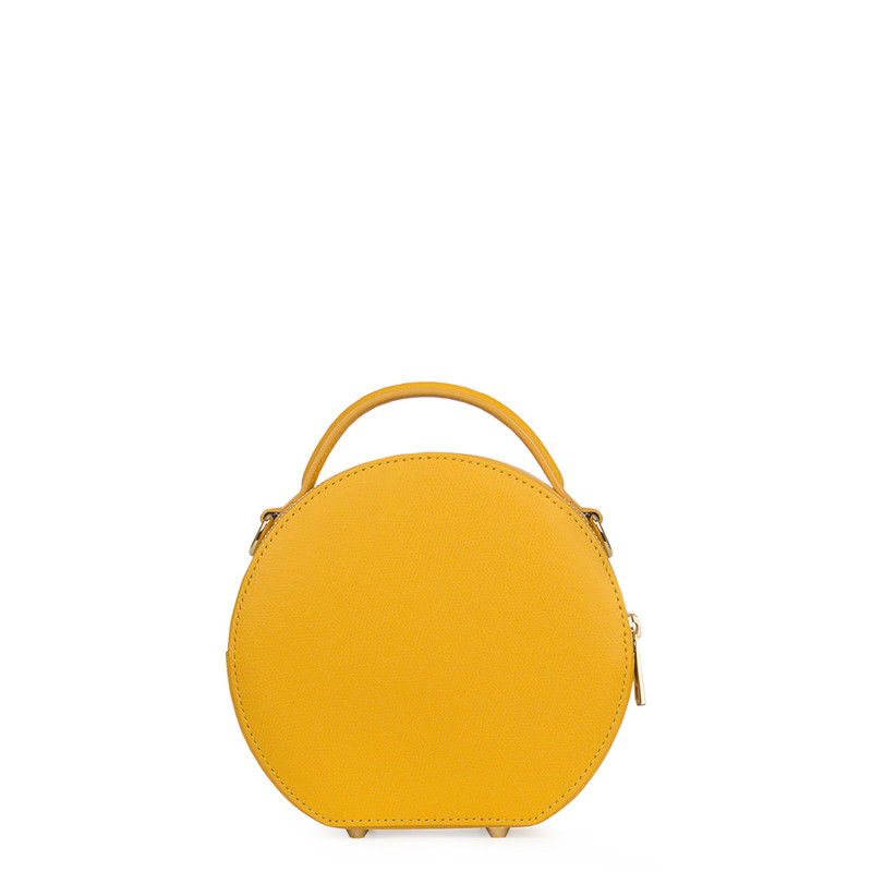 Citrus Yellow Leather Cross-Body Mini Bag Positano XN 5160019 YLW | TJ COLLECTION | Side Image - 2