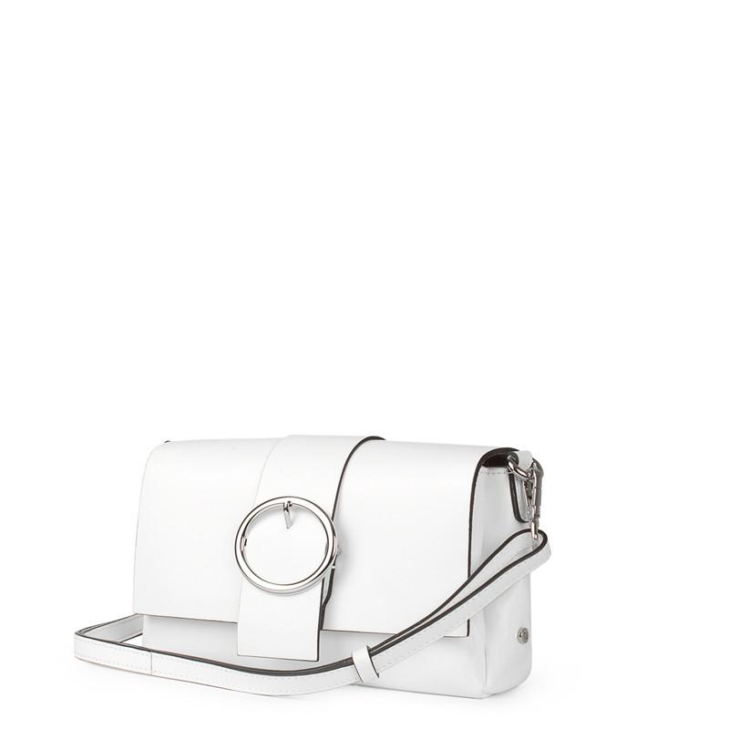 White Patent Leather Shoulder-Bag Saint-Tropez YG 5152619 WHP   TJ COLLECTION   Side Image - 1