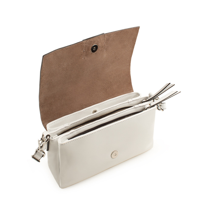 White Patent Leather Shoulder-Bag Saint-Tropez YG 5152619 WHP   TJ COLLECTION   Side Image - 3