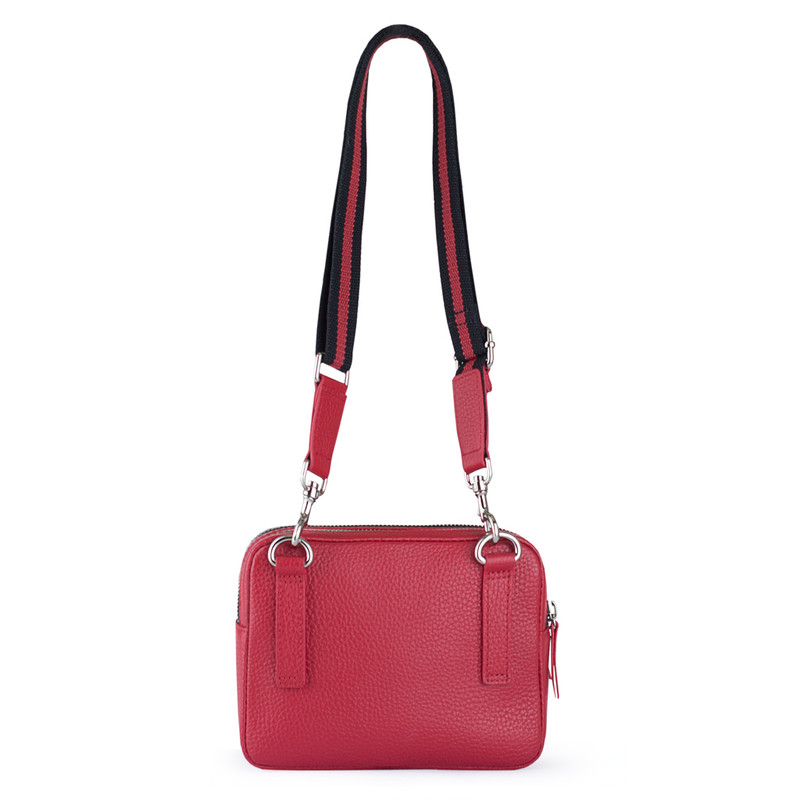 Red Grained Leather Belt Bag Riva YH 5120919 RDB | TJ COLLECTION | Side Image - 2