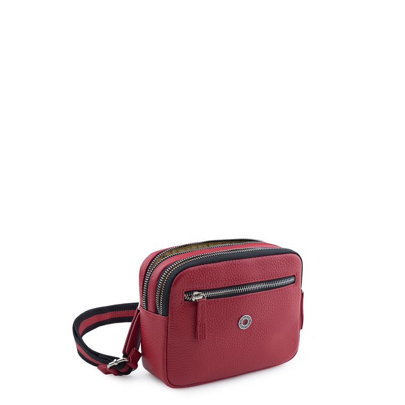 Red Grained Leather Belt Bag Riva YH 5120919 RDB | TJ COLLECTION | Side Image - 3