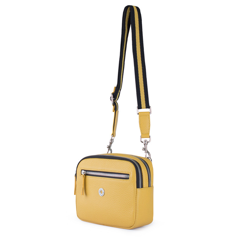 Grained Leather Belt Bag Riva in Yellow YH 5120919 YLB | TJ COLLECTION | Side Image - 1