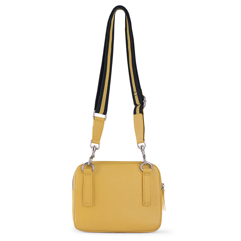 Grained Leather Belt Bag Riva in Yellow YH 5120919 YLB | TJ COLLECTION | Side Image - 2
