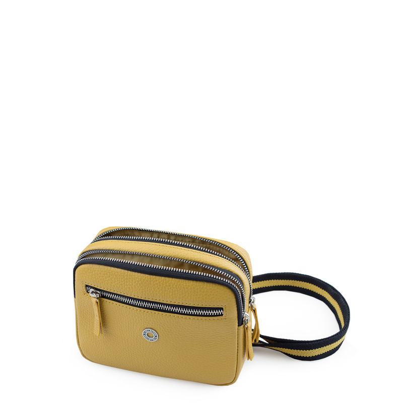 Grained Leather Belt Bag Riva in Yellow YH 5120919 YLB | TJ COLLECTION | Side Image - 3
