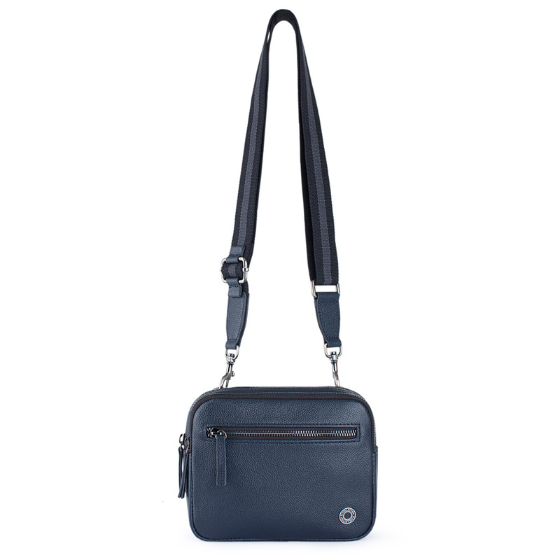 Grained Leather Belt Bag Riva YH 8120919 NVY