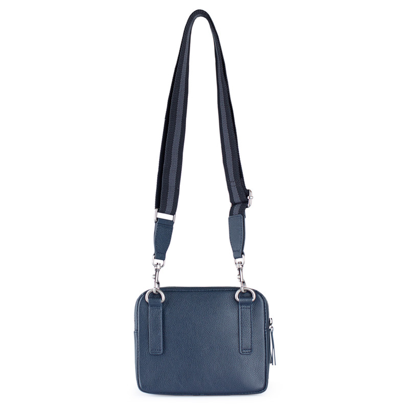 Grained Leather Belt Bag Riva YH 8120919 NVY | TJ COLLECTION | Side Image - 2